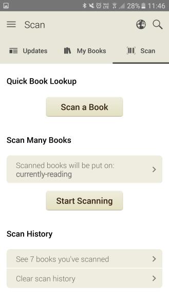 """""""Scan"""" on app"""