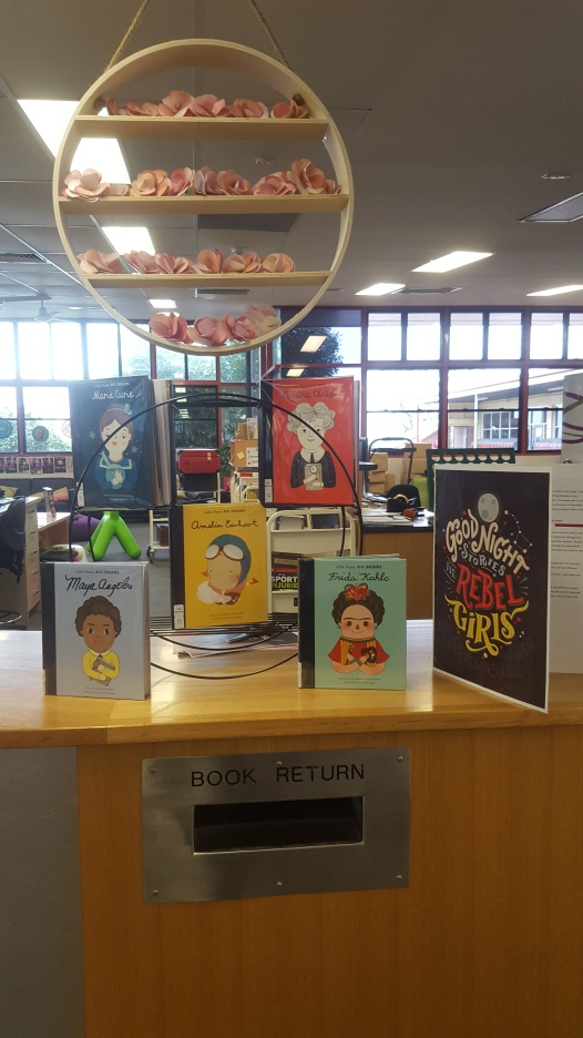 Book display: Books featuring Amazing Women